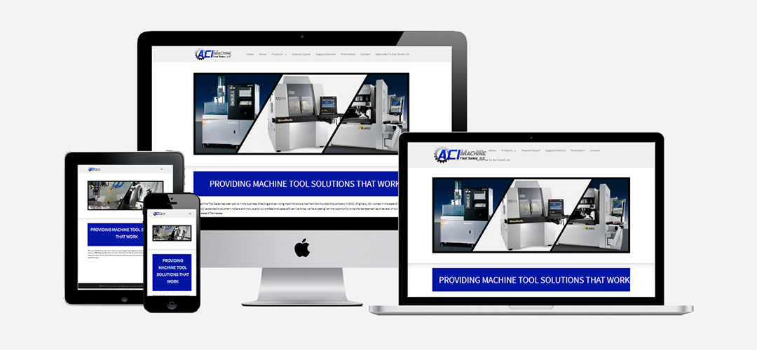ACI Machine Tool Sales, Inc. Web Design Portfolio