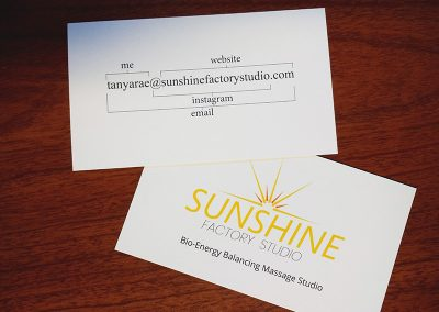 Sunshine Factory Studio Business Cards