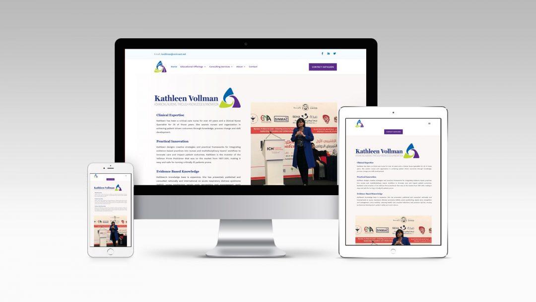 Kathleen Vollman's Website Design by RB Design Studio